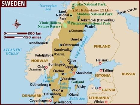 Sweden On Emaze - Sweden map major cities