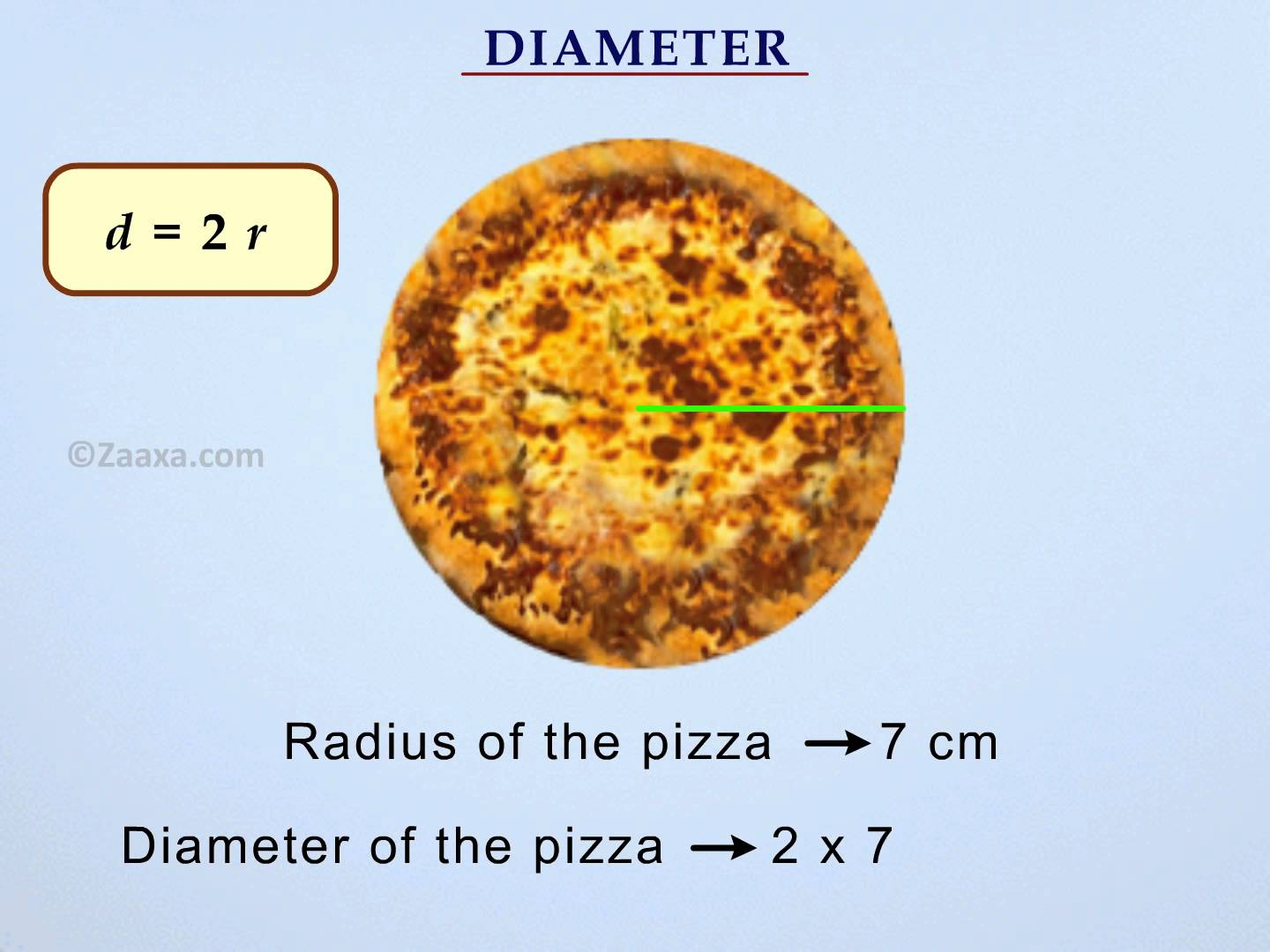 The Radius Of A Circle Is The Distance From The Center Of A Circle To Any