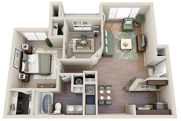three bedroom apartments in atlanta  juliettetemple, Bedroom designs