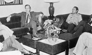 Image result for GH Bush with Noriega