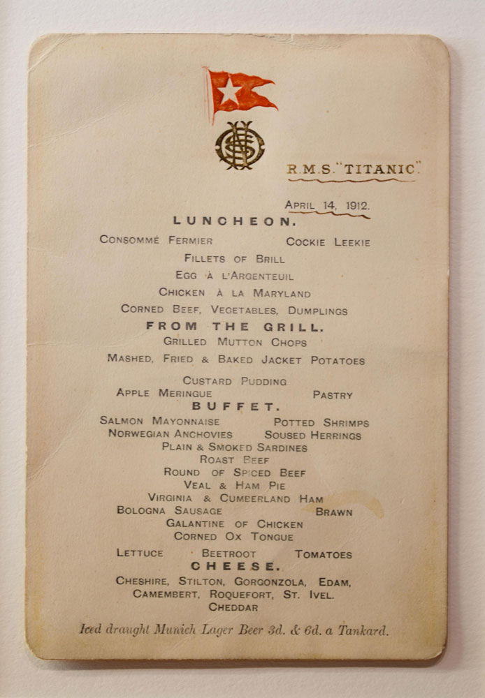 Titanic Dinner Menu Fruit Of The Spirit The Fruit Course