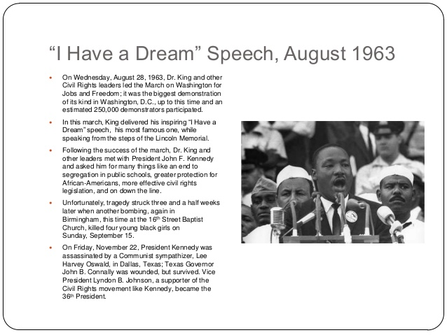 an analysis of the ml kings i have a dream speech Speech transcript, video, and analysis of i have a dream though there are a few geographical references in dr martin luther kings speech.
