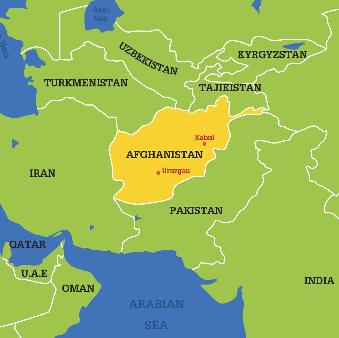 Kabul World Map Factsofbelgium