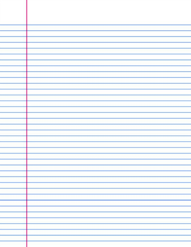 Doc600642 Print College Ruled Paper Sample College Ruled – Printable Wide Ruled Paper