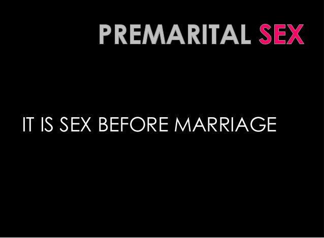 premarital sex essay introduction An essay warning about the dangers of premarital sex, and offering hope in christ.