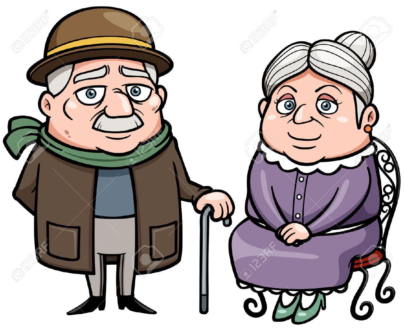Pics for grandparents cartoon for Dijain photo