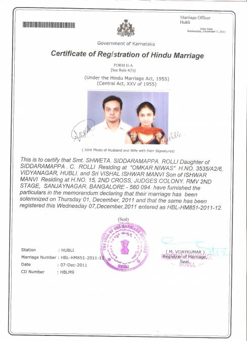 Marriage Certificate Form Download Gurgaon Gallery