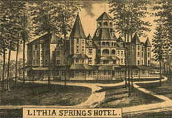 Lithia Springs Hotel A That Was Built In Tallapoosa Georgia 1882 By Man Named Ralph L Spencer