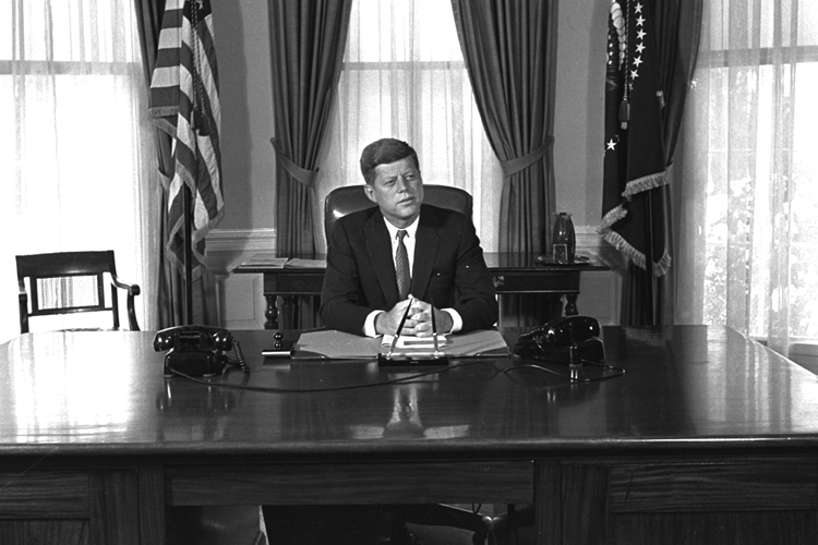 john fitzgerald kennedy in office John f kennedy was a good president but not a great one, most scholars concur a poll of historians in 1982 ranked him 13th out of the 36 presidents included in the survey.