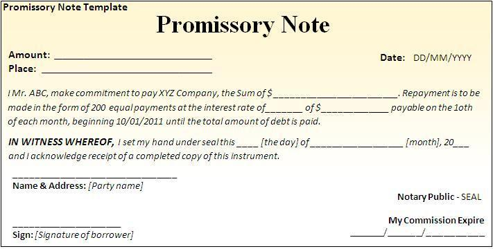 Doc784508 Promissory Note Promissory note Wikipedia 88 More – Simple Promissory Note Sample