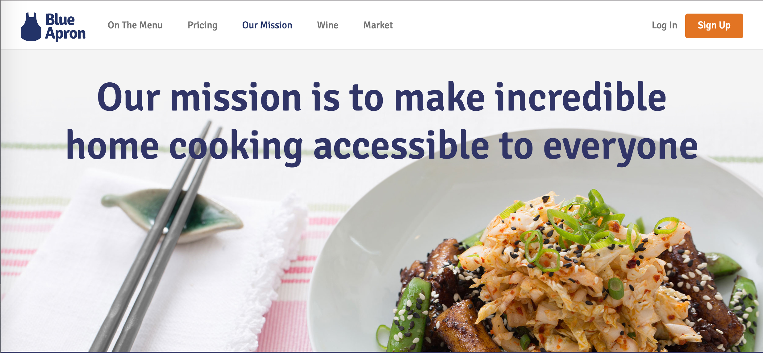 Blue apron demographics