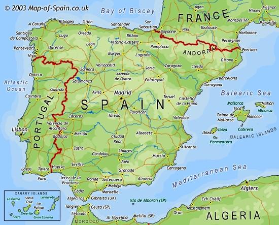 Portogallo Spagna Cartina.Ricerca Sulla Spagna