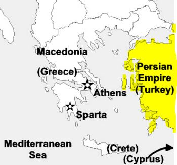 Of The Distance Between Athens Sparta And The Us - Map of the distance between athens sparta and the us