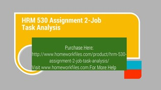 job task analysis hrm 530 Download presentation powerpoint slideshow about 'hrm 531 v6 expect success/uophelpcom' - bagsha185.
